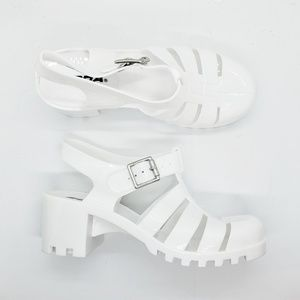 Soda Ranee-S Womens Jelly Sandals White Size 6